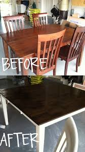 staining a table top how to stain and paint your kitchen table dark walnut stain