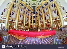 burj al arab inside entrance hall in the luxurious hotel burj al arab dubai united