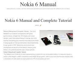 android user guide nokia 6 manual and complete tutorial nokia 6 manual and tutorial