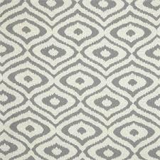 Geometric Fabrics Upholstery Native Silver Gray Woven Ikat Geometric Upholstery Fabric 51376
