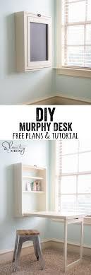 Small Craft Desk Diy Murphy Desk Murphy Desk Small Spaces And Desks