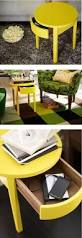 Yellow Side Table Ikea Try Doubling A Mästerby Step Stool As A Living Room Side Table