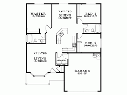 bungalow blueprints floor plan three bedroom house bungalow with garage plans floor
