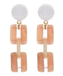 sixties earrings resin sixties clip on earrings liberty london