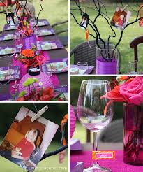 Table Centerpieces For Party by 40th Birthday Party Ideas Backyard Table Decorating Ideas