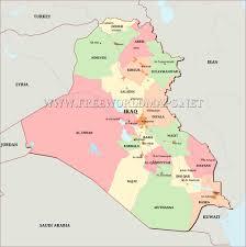 Iraq Province Map Iraq Maps