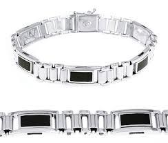 gold onyx bracelet images White gold bracelets mens white gold onyx bracelet jpg