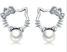 hello earrings best real 925 sterling silver white freshwater pearls hello