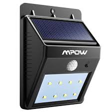 mpow solar powered 8 led wireless security motion sensor outdoor