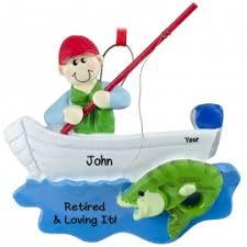 fishing fishermen ornaments personalized