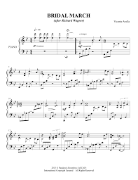 wedding dress chords piano bridal march sheet ceremony wedding
