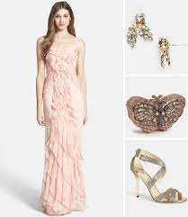papell dress bridesmaid look we papell ruffle dress