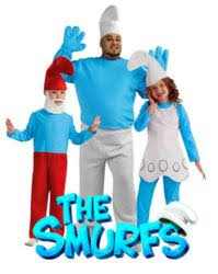 Smurf Halloween Costume Smurf Costumes Paints Town Blue Totallycostumes
