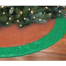christmas pattern red green holiday time christmas decor 48 canvas tree skirt with glittered