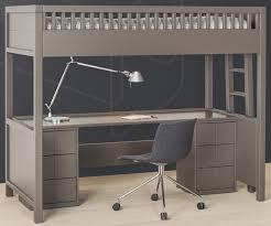 lit surélevé avec bureau lit mezzanine quarré avec bureau rabattable quarré collections
