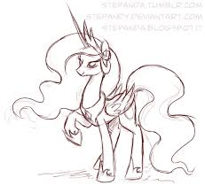 princess celestia sketch by stepandy on deviantart