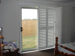 Hardwood Sliding Patio Doors by Wooden Plantation Shutters For Sliding Glass Doors U2014 Home Ideas