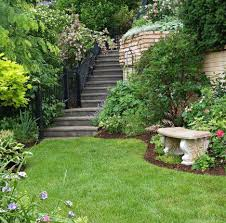 Backyard Ideas For Sloping Yards Garden Tour Tame A Steep Backyard Midwest Living