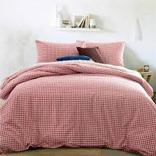 home textile 100 high quality cotton knitting gingham consort red