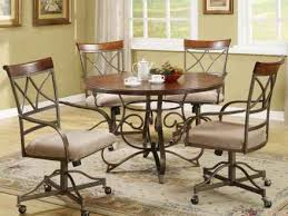 Kitchen Table Sets With Caster Chairs by Kitchen Chairs With Casters Chairdsgn Com