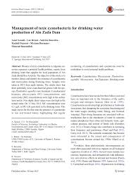 management of toxic cyanobacteria for drinking water production of
