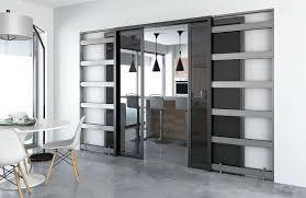 porte coulissante separation cuisine dé d une porte coulissante avec un châssis intégré dans le mur