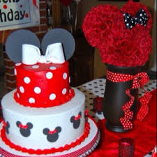 Red Minnie Mouse Cake Decorations 32 Best Minnie Mouse Pink And Zebra Party Images On Pinterest