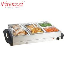 firenzzi 4 trays buffet server food warmer fw413 11street