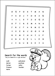 occupations vocabulary for kids learning english printable resources