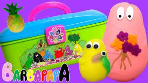 play doh barbapapa molds shapes carry case play dough picnic
