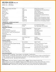 Sample Beginner Acting Resume by Appealing Dance Resume Examples Dance Resume Example Truck