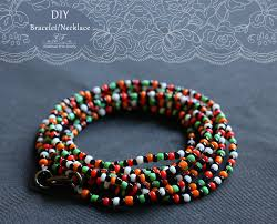 beaded bracelet make necklace images Diy seed bead bracelet necklace enik fenyvesi jpg