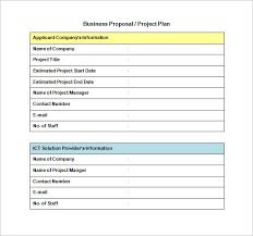 business proposal template u2013 8 free sample example format