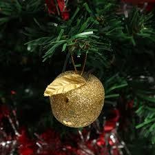 6pcs christmas tree glitter apple baubles ornament xmas party