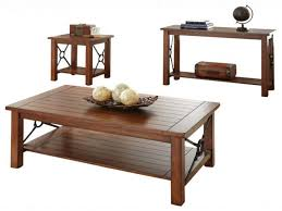 3 piece coffee table set end tables rustic coffee table set fresh steve silver pany
