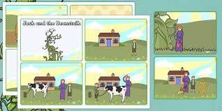 jack and the beanstalk story sequencing 4 per a4 jack and