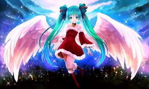boots clouds wings vocaloid dress lights hatsune miku long