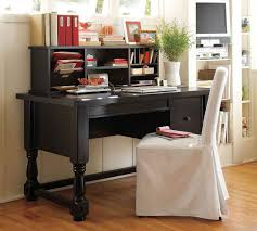 office elegant dark brown table and nice white chair in home