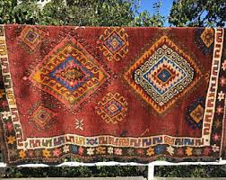 Red Tribal Rug Antique Turkmen Tribal Rug Southwestern Rug Aztec Rug