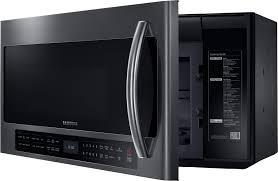 Ventless Microwave Me21h706mqg Samsung 2 1 Cu Ft Over The Range Microwave Oven