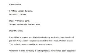 Transfer Request Letter In Bank sle transfer request letter 5 documents in pdf word with