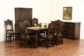 Antique Oak Dining Room Chairs English Tudor 1925 Antique Oak Tv Console Sideboard Server Or