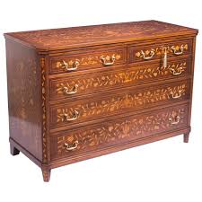 Commode Baroque Ikea by Antique Dutch Floral Marquetry Mahogany Chest Circa 1900 For Sale