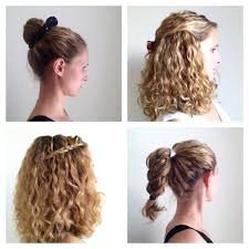 Quick And Easy Hairstyles For Medium Length Hair Four Styling Ideas For Curly Hair Justcurly Com