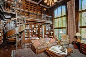 video home library interior design amreading