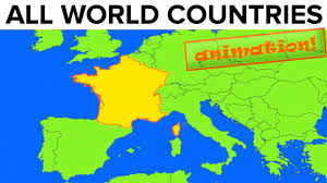 Spain On A World Map by All World Countries Map Flag Capital City Pronunciation