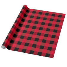 manly wrapping paper buffalo plaid moose lumberjack style black wrapping paper