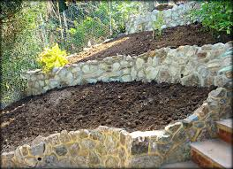 Raised Rock Garden by Build A Stone Wall Archives Garden Construction