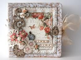 Small Scrapbook Album Beautiful Can Be Used As A Photo Frame A Diary Cover Or Even A