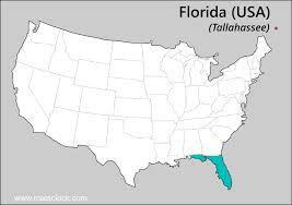 Florida Usa Map by Florida Time Time Now In Florida Usa